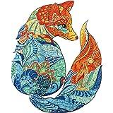 AAGOOD Puzzles en Bois, 300 pièces de Puzzle en Forme d'animal de Forme Unique pour Adultes et Enfants, idéal pour la Collect