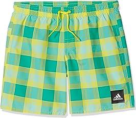 adidas YB Check Sh Ml Badeanzug für Junge, Blau (Maruni/Blau / Azuimp), 158