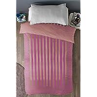 "Cloth Fusion Prima Satin 300TC Bed Cover - Single (60""X90""),Pink"