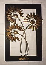 Aalokik Art Sunflower Wall Art (Trio Flower)