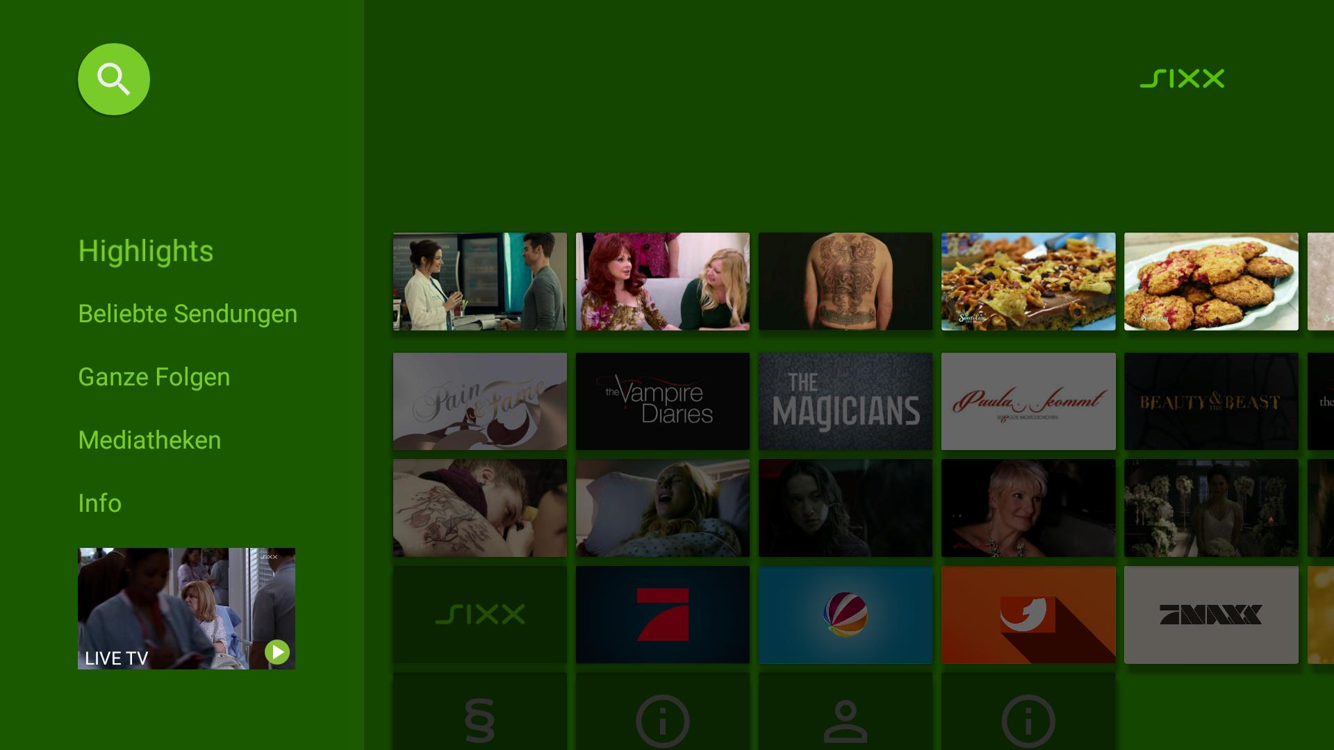 Sixx Live Tv Und Mediathek Amazonde Apps Für Android