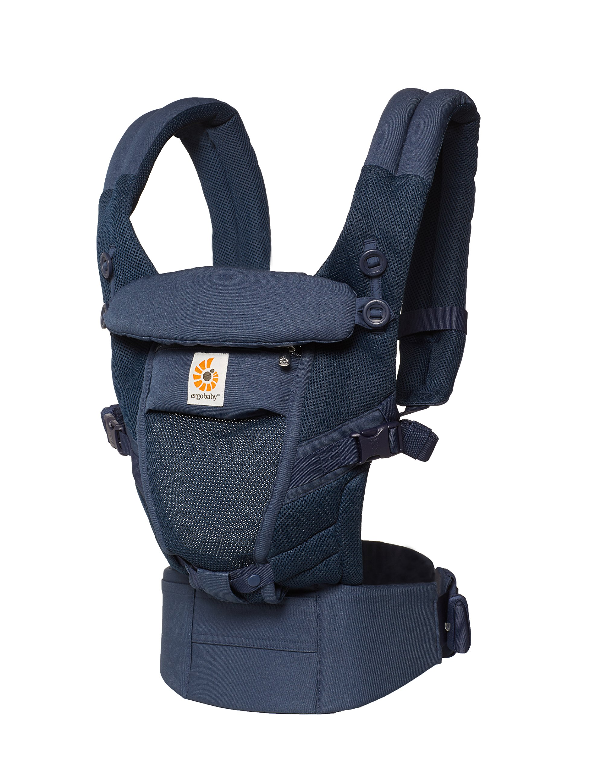 Ergobaby Baby Carrier for Newborn to Toddler up to 20kg, Adapt 3-Position Cool Air Mesh, Deep Blue Ergobaby Ergonomic bucket seat gradually adjusts to a growing baby from newborn to toddler (3.2 -20kg) No infant insert required 3 ergonomic carry positions: front-inward, hip and back 5