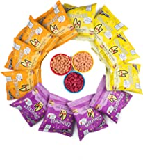 The Mumum Co. Cool Crunchies – Natural, Healthy Supergrain Roasted Puff Snacks for Kids Combo – (Pack of 12 Pouches) (4 Strawberry Banana, 4 Beetroot & 4 Cheese Tomato Pouches)