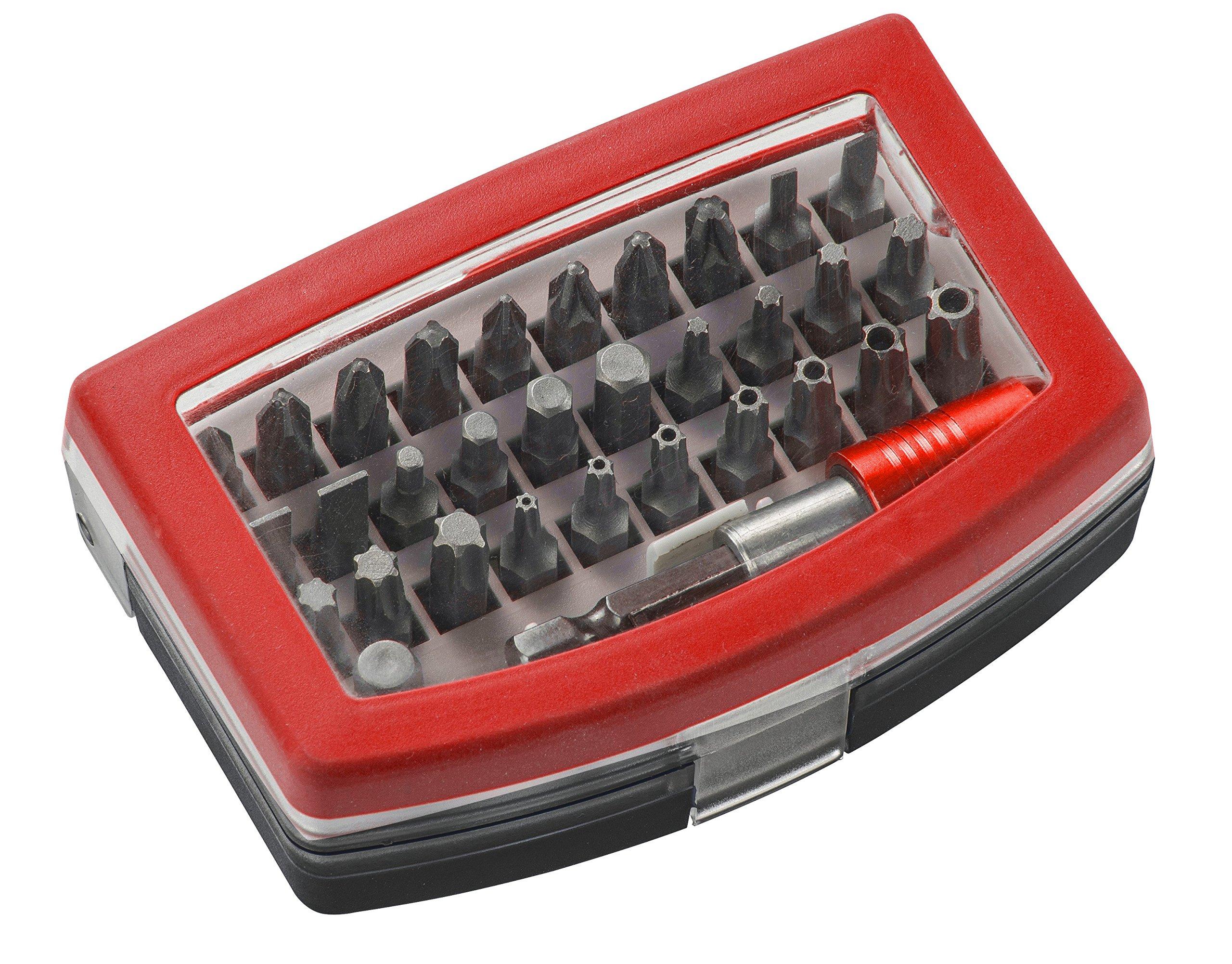 91qvgYH 1pL - KWB GERMANY GMBH 118490 - Bit box con puntas de 32 piezas, acero al cromo-vanadio