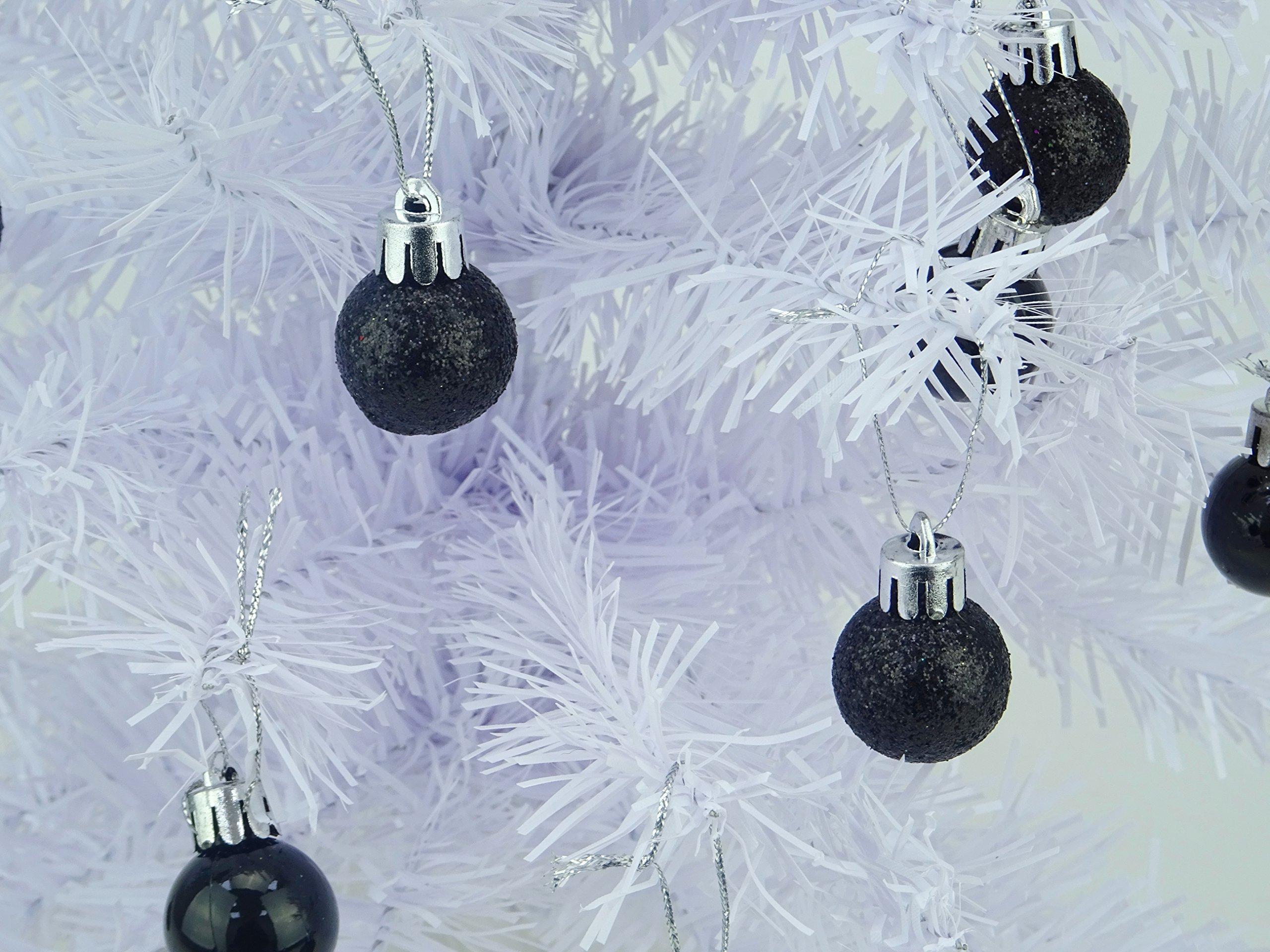 Christmas-Concepts-Packung-mit-25-Glnzend-Matt-Glitter-Mini-Weihnachtsbaum-Flitter