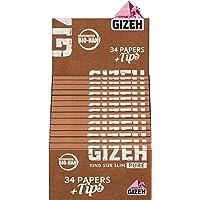 Gizeh Pure King Size Slim + Lot de 26 Paquets de 34 Feuilles de Chanvre Bio certifié Pure
