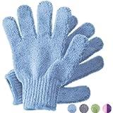 Temple Spring Bamboo Exfoliating Wash Gloves, Eco Exfoliator Mitt, Natural Bath/Shower Scrub, Body Exfoliation Hand…