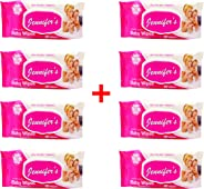 Jennifer's Baby Wipes 80 Pieces Per Pack, Pack of 8