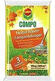 Compo Herbst-Rasen Langzeit-Dünger, 3 Monate Langzeitwirkung, Feingranulat, 10 kg, 500 m²