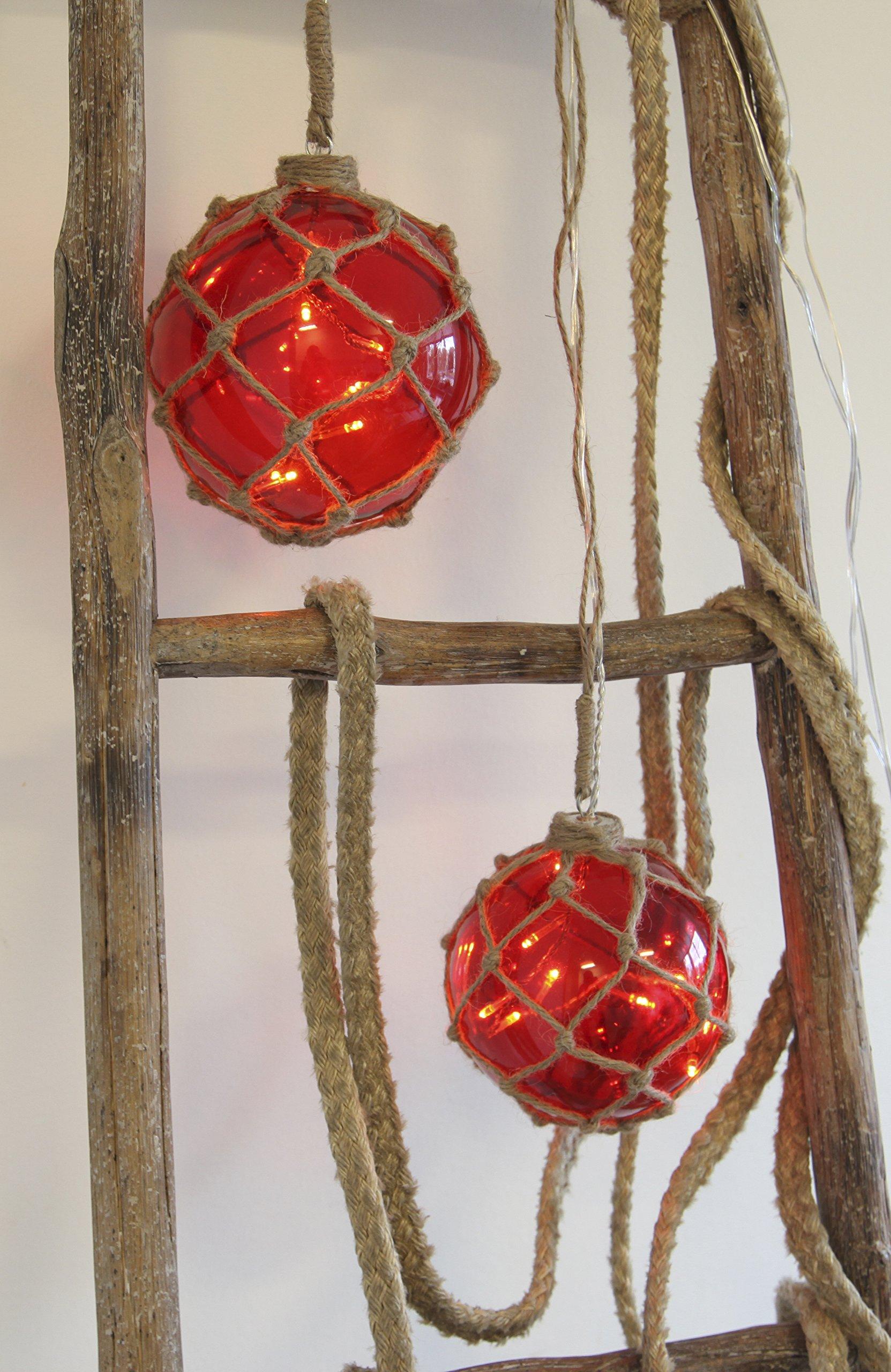 StarNoah-Glaskugel-mit-8-LED-Lichternrot-mit-Garnnetz-transparent-Kabel-Durchmesser-12-cm-Vierfarb-Karton-457-33