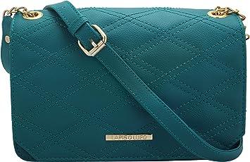 Lapis O Lupo Women's PU Turquoise Sling Bag