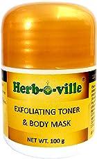 Herb-O-Ville ® Ayurvedic Spa Masque, DetoxifyingExfoliating, Toner Body Mask, Body Scrub, 100g | No Parabens or Chemicals or Preservatives | 100% Natural, Organic, Pure & Ayurvedic