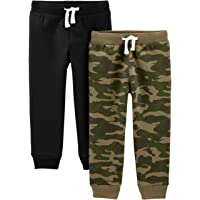Simple Joys by Carter's Boy's 2-Pack Pull on Fleece Pants, Pack of 2