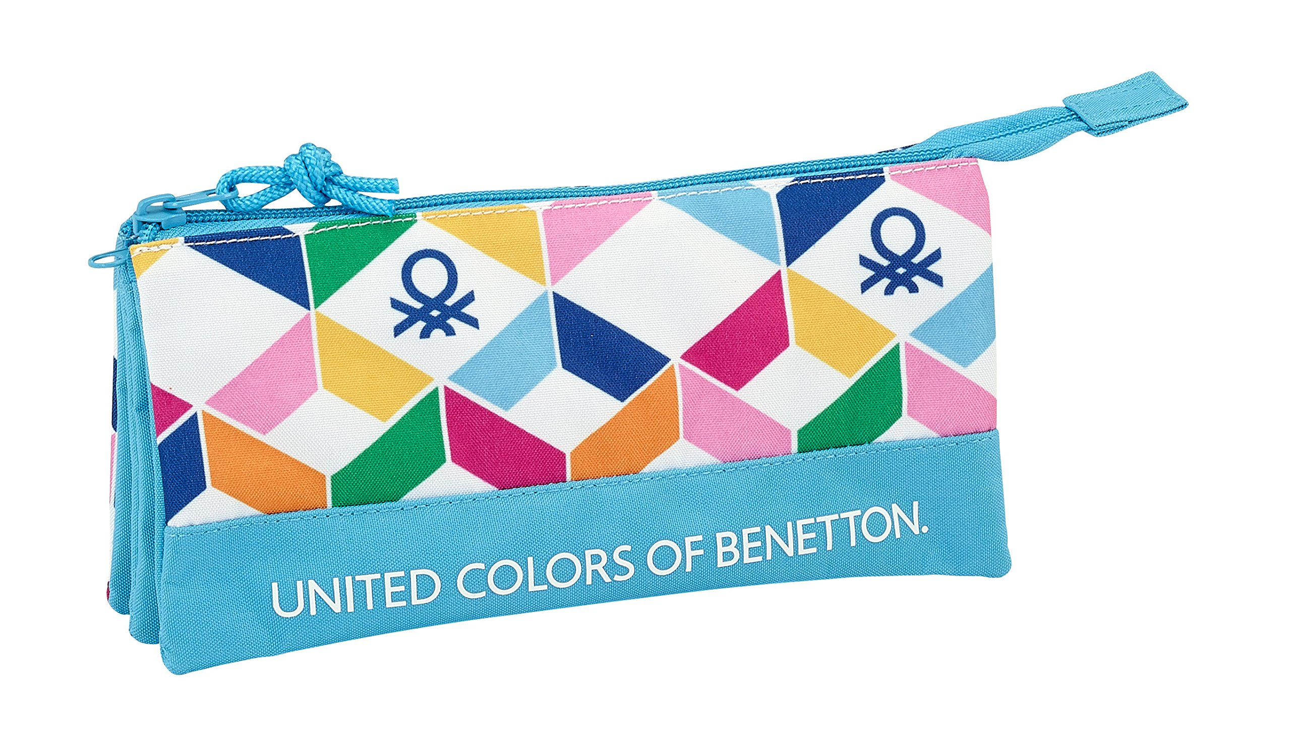 Safta Estuche Escolar Benetton «Geometric» Oficial 220x30x100mm