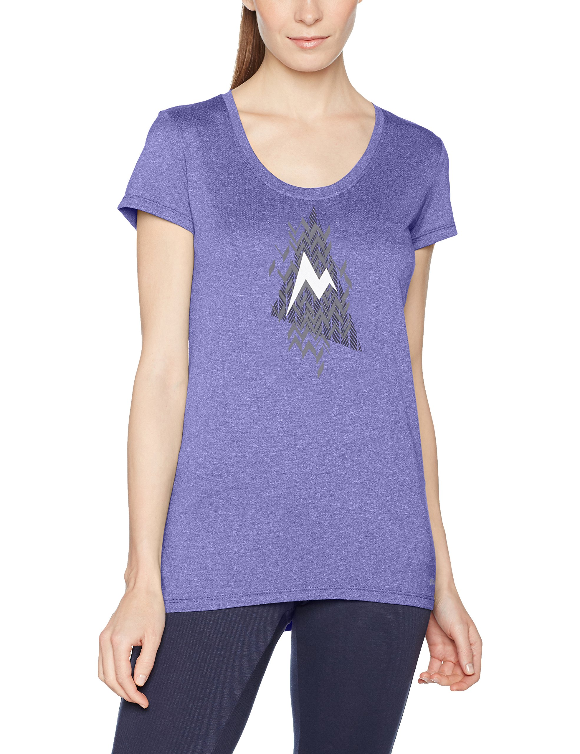 Marmot WM S Post Time Tee Maglietta, Donna, Wm's Post Time Tee, Electric Iris, L