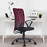 Green Soul® Seoul Mid Back Office Study Chair in Breathable Mesh with Multi Color Options (Confident Maroon)
