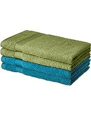 AmazonBrand- Solimo 100% Cotton 4 piece Hand Towel Set, 500 GSM