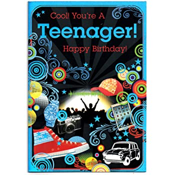 Birthday Card Teenage Thirteen 13 Year Old Boy