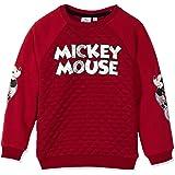 Disney Sudadera oficial de Mickey Mouse para niños, de 2 a 8 años, color rojo o gris