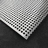 Edelstahl Lochblech  Blank 1,0 mm Stärke Platten  10 cm X 14 cm Abschirmblech