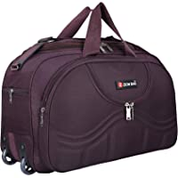 Zion Bag Waterproof Polyester Lightweight 40 L Travel Duffel Bag with 2 Wheels (Purple)