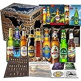 Biere der Welt 9 Flaschen Geschenk für Mann, Geburtstag +Bier Geschenk + Geschenkidee für Männer Geburtstag + Tasting…