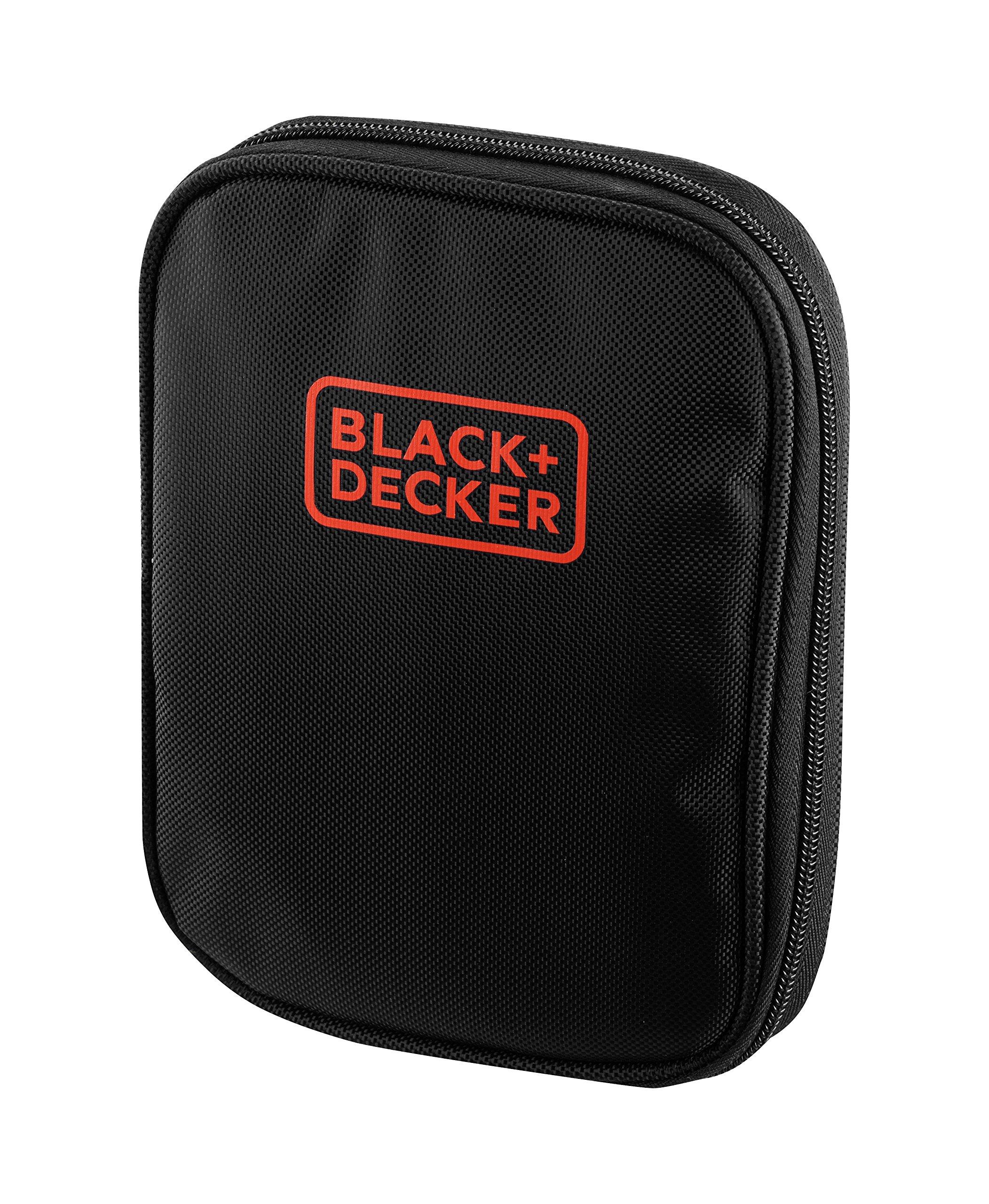 BLACK+DECKER A7104-XJ – Kit para atornillar 56 piezas, incluye destornillador tipo carraca