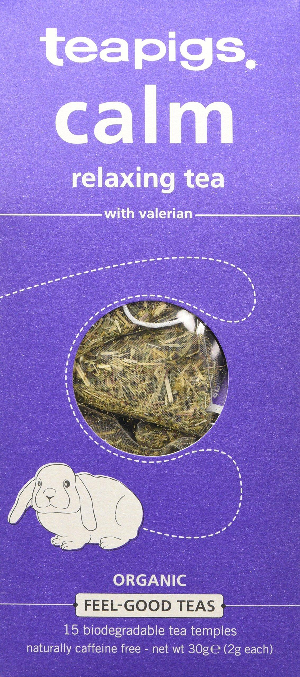 Teapigs feel good range tea (infusions) (15 bags) (a floral tea with aromas of camomile, lemon balm, lemongrass, lime, valerian) (brews in 3 minutes)