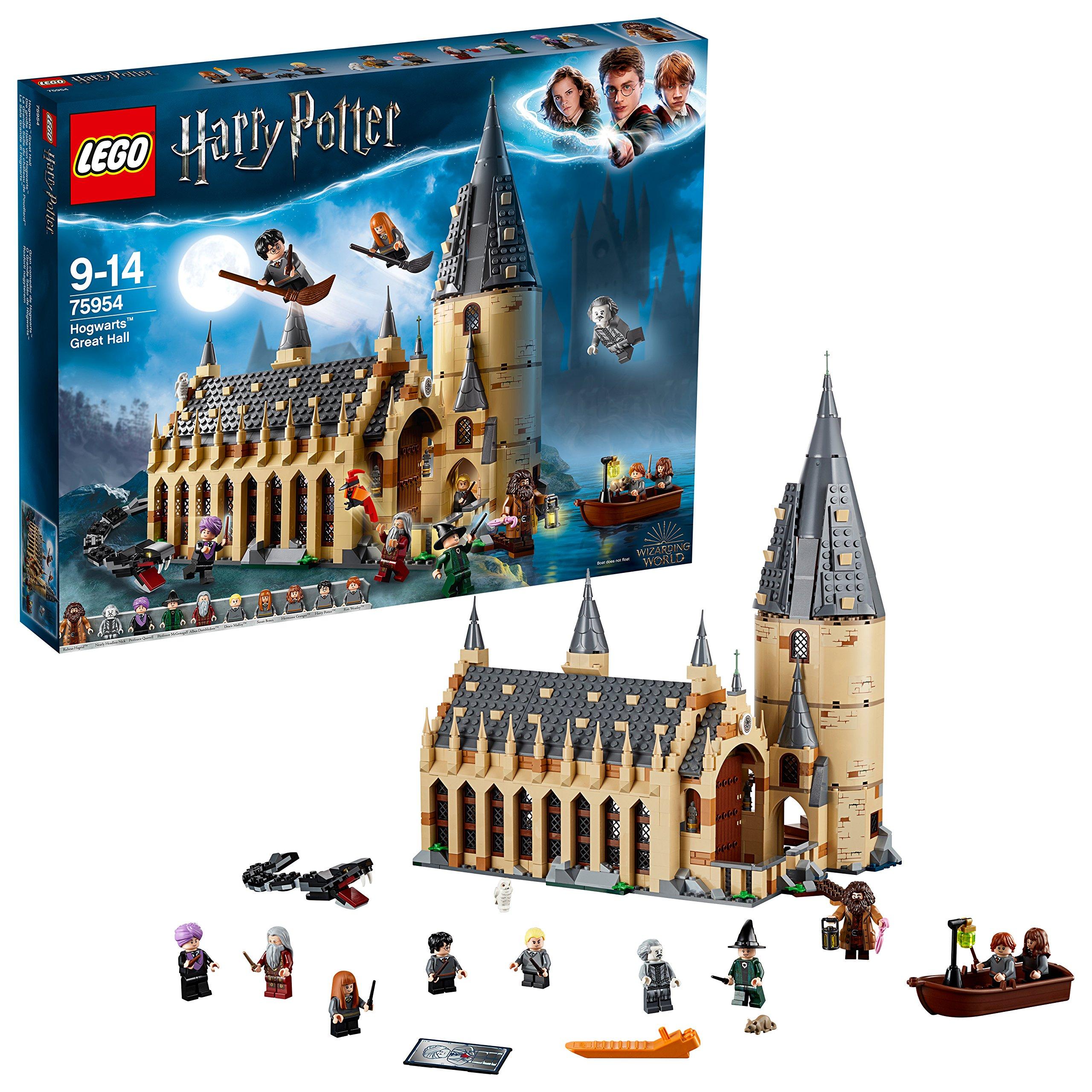 LEGO 75954 Harry Potter Gran Comedor de Hogwarts – Juguete de Construcción, con Minifiguras de Harry Potter