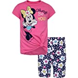 Disney Minnie Mouse Girls T-Shirt and Bike Shorts Set