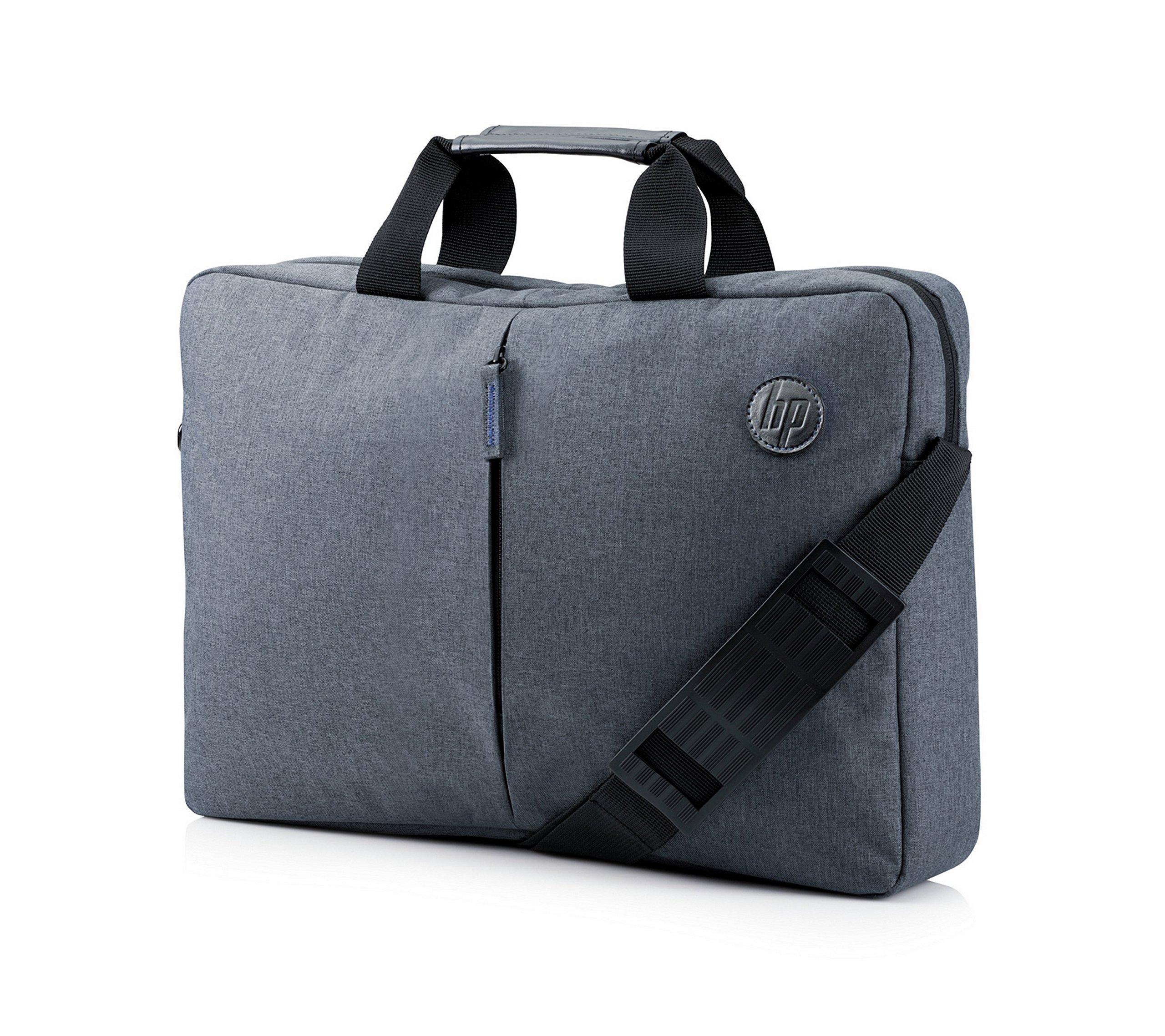 HP Essential Top Load 15.6″ – Funda bandolera para portátil de hasta 39,6 cm, color gris