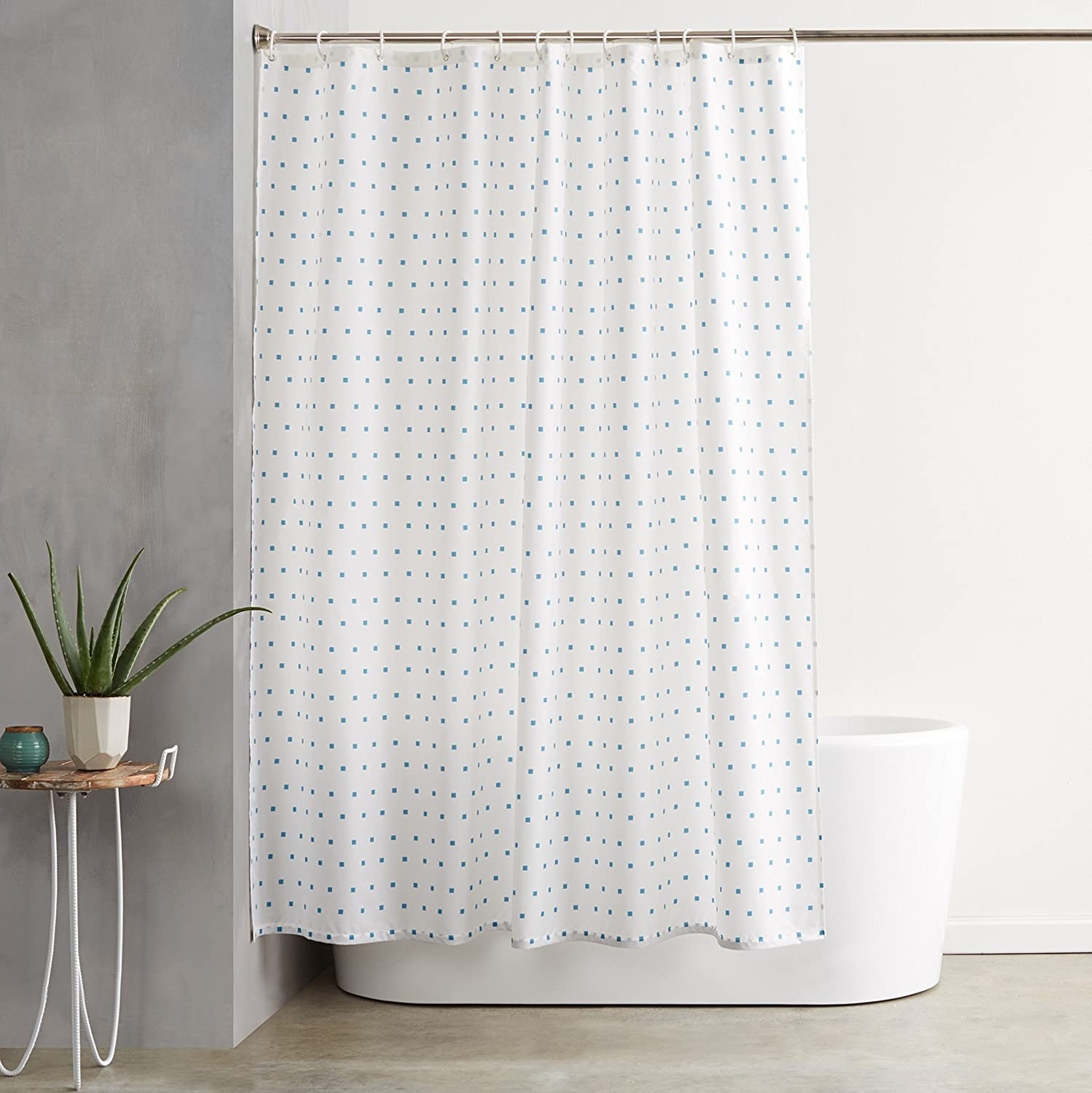 QUALITY Transparent Fish Clear Plastic Shower Curtain, 180 x 200 ...