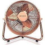 Brandson - Ventilateur rétro 32 W - Ventilateur de Bureau – Silencieux – 3 Vitesse - Ventilateur sur Pied - Ventilateur de Ta