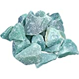 Piedras de agua de aventurina verde, piedra 100% natural, 300 g de fuente de vida Plus
