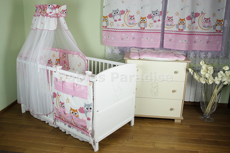 Baby Bettwäsche Set Eule New Design (5 tlg, Blau): Amazon.de: Baby