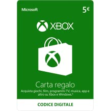 Xbox Live - 5 EUR Carta Regalo (Codice Digital) [PC Game Code]