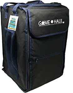Top Shelf Fun Game Haul: Padded Board Game Carrying Bag with Handle & Shoulder Straps