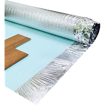 Newlife Contracts (Flooring) Comfort Silver 3mm Laminate Wood Floor Underlay with Damp Proof Membrane - 1 Roll 15m2 - Royale