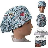 Cappelli per chirurgia STRUMENTI MEDICI per Capelli Lunghi Infermiera Dentista Veterinaria. Striscia assorbente…