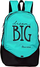 "POLE STAR ""BIG-3"" 38 Lt Turquise Blue Black Casual Backpack I School Bag"