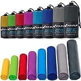 Mikrofiberhandduk – i alla färger, 8 storlekar – kompakt, ultralätt och snabbtorkande – Mikrofiber handdukar – en perfekt spo