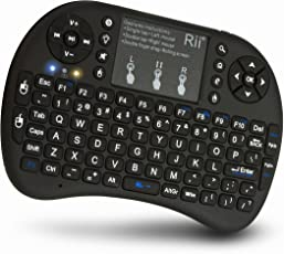 Riitek Rii I8+ Wireless Touchpad Keyboard with Mouse (Black)