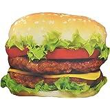 Close Up Hamburger Kissen, 47x 38cm / Plüschkissen aus Polyester
