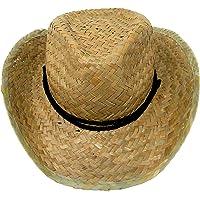 YLAB, Cappello da cowboy per bambini in paglia