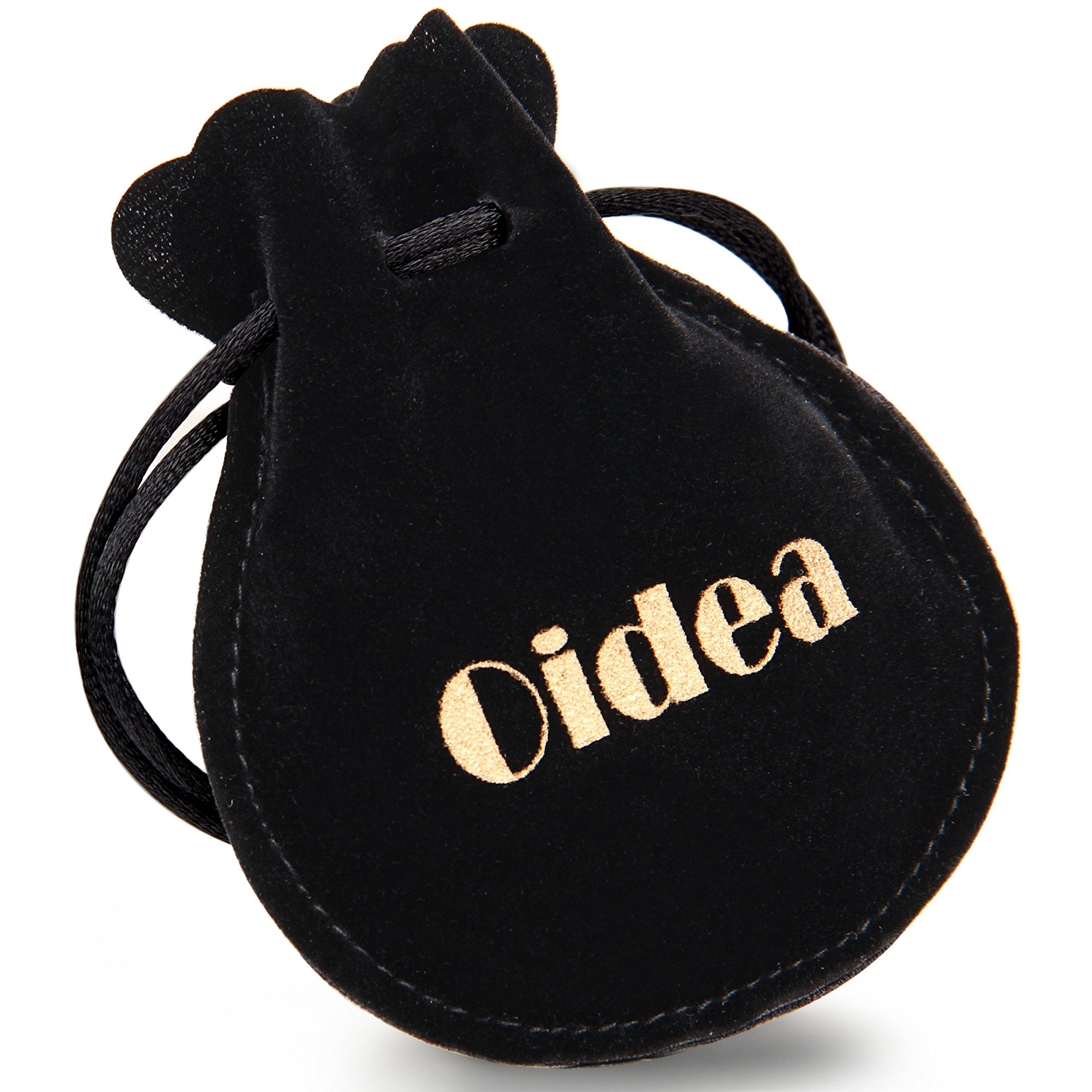 Bracelet pour homme en acier inoxydable Oidea noir cadeau pour gar/çon avec aimant argent/é