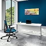 Weber Büro OPTIMA Schreibtisch Weiß 180x80cm Bürotisch Arbeitstisch
