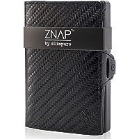 ZNAP Kreditkartenetui mit Geldklammer Aluminium und Münzfach – RFID Schutz – Slim Wallet Carbon – Kartenetui…