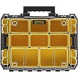 Stanley FMST82967-1 FatMax Pro-Stack Organizer (stapelbare gereedschapskist, met transparant deksel, met 10 sorteerinzetstukk