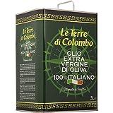 Le Terre di Colombo - Olio extravergine d'oliva 100% italiano, in tanica, 3 litri
