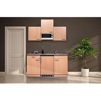 respekta Single Mini Küche Küchenzeile Küchenblock 150 cm Eiche ...